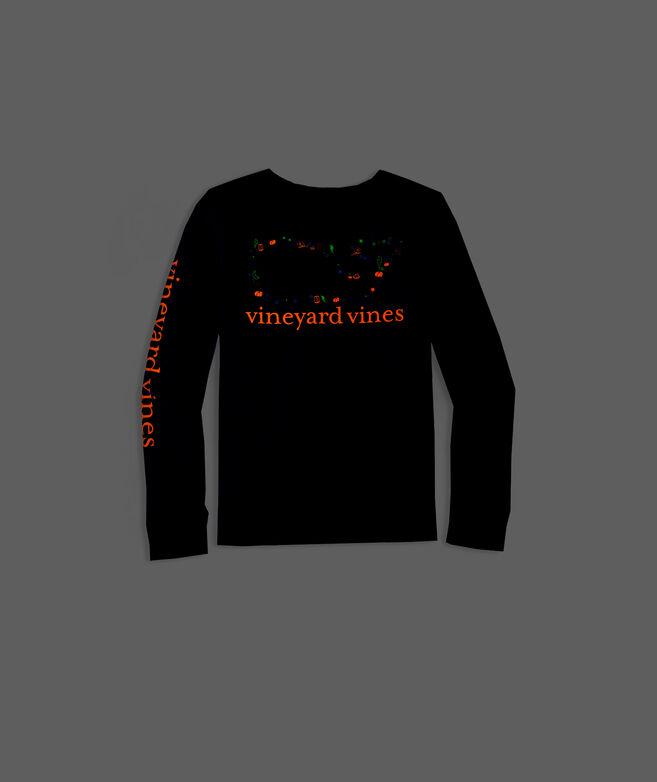 Girls' Long-Sleeve Halloween Glow-In-The-Dark Whale Tee
