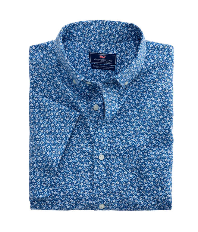 Short-Sleeve Mini Floral Classic Murray Shirt