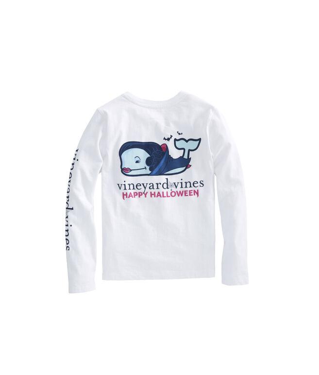 Girls Long-Sleeve Vampire Whale Pocket Tee