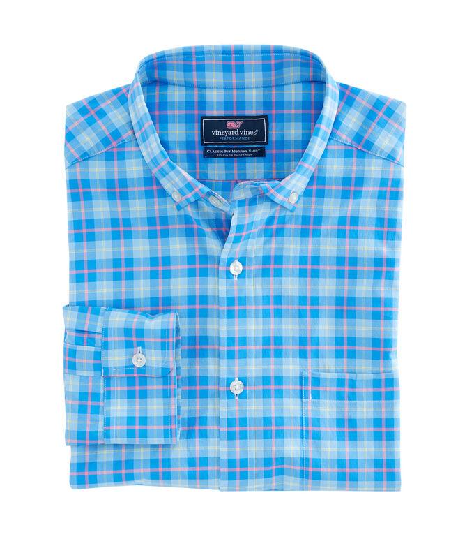 Blue Heron Plaid Performance Classic Murray Shirt