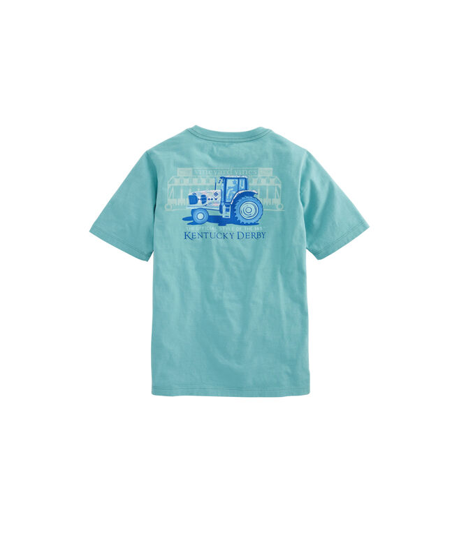 Kids Kentucky Derby Tractor Pocket T-Shirt