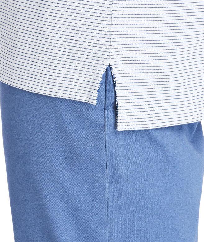 Carmel Wide Stripe White Long-Sleeve Polo