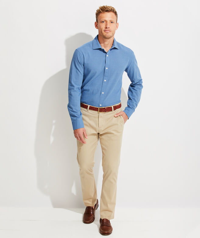 Slim Fit Worth Avenue Cooper Button-Down Shirt