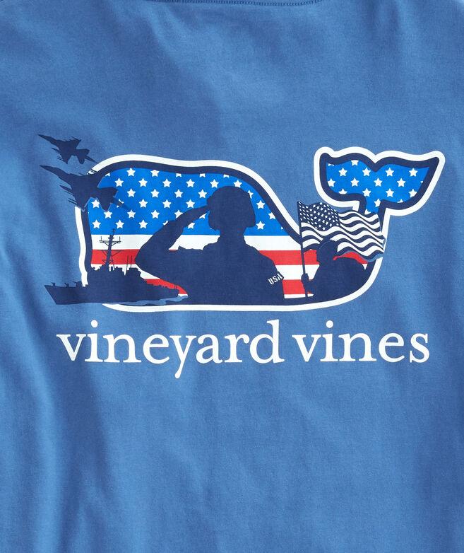 Shop Adult Long Sleeve Veterans Pocket T Shirt At Vineyard Vines