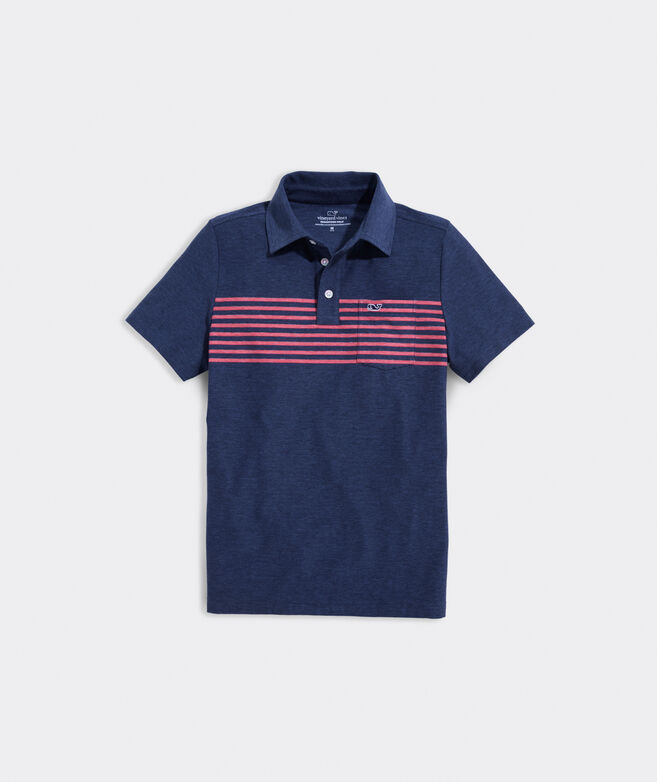 Boys' Seabreeze Chest Stripe Edgartown Polo