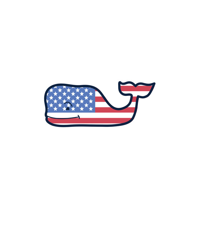 USA Flag Whale Magnet.