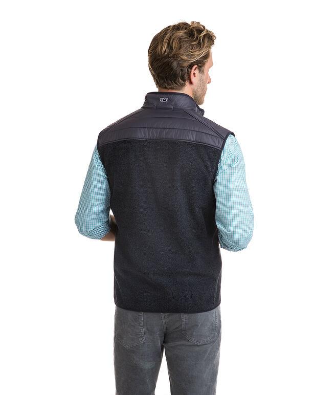 Channel Stitch Yoke Fleece Vest