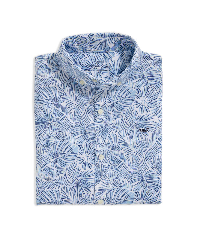 Boys' Palm Tree Short-Sleeve Whale Shirt
