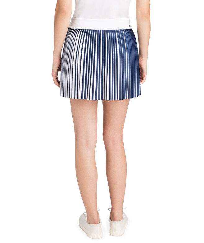 15 Inch Printed Accordian Pleat Skirt