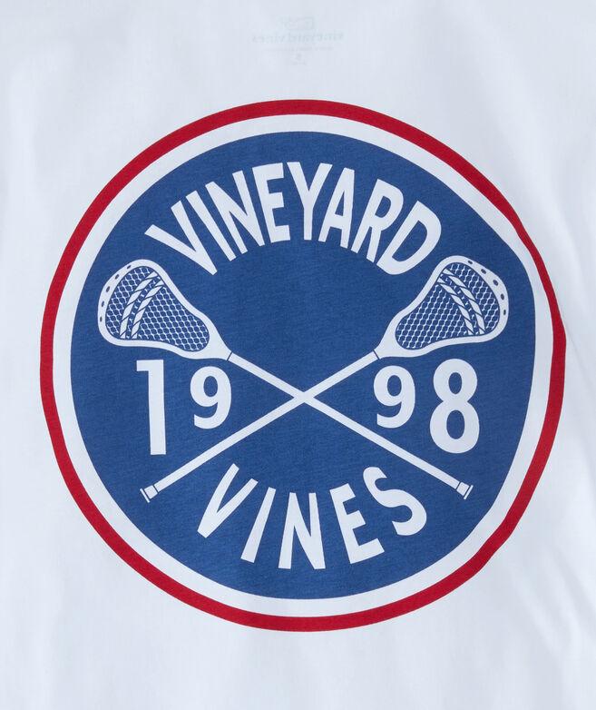 Boys Lacrosse Crest Long-Sleeve Pocket T-Shirt