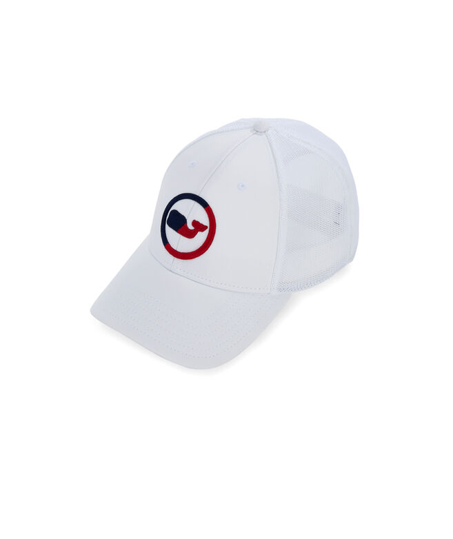 Two-Tone Whale Dot Trucker Hat