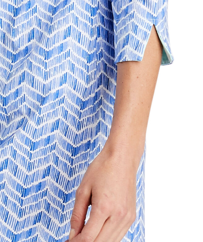 UPF Linear Whale Tail Shirt Dress