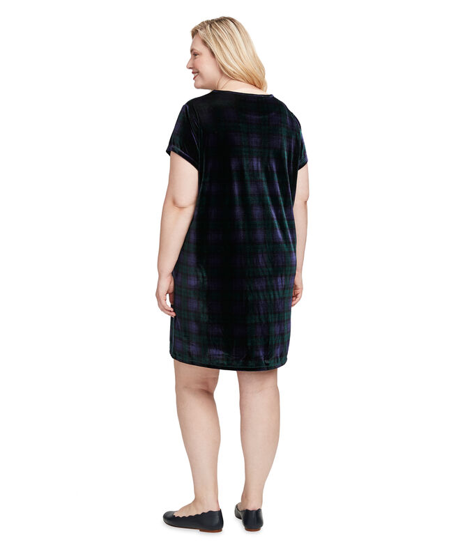 Blackwatch Velvet Madaket T-Shirt Dress