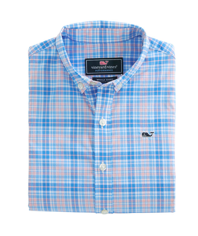 Boys Stoney Hill Plaid Performance Whale Shirt