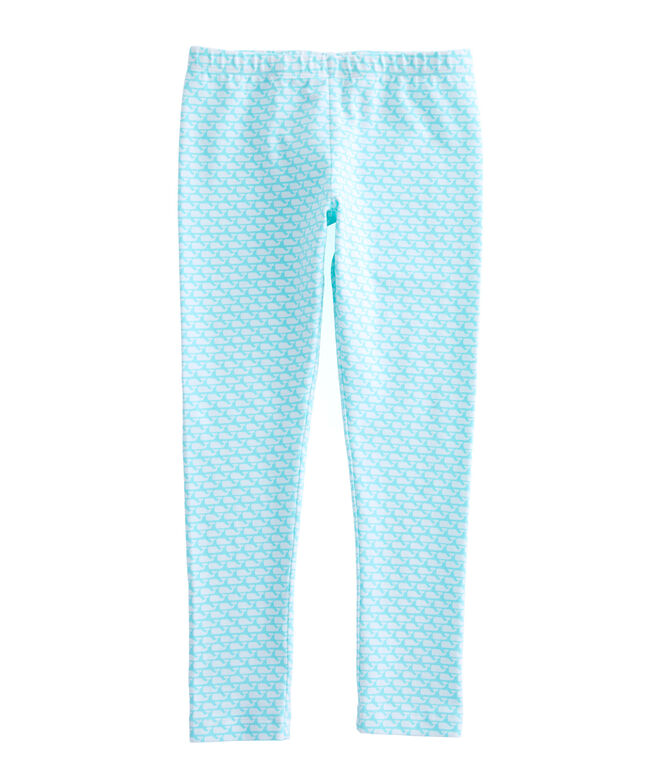 Girls Allover Whale Print Knit All Day Leggings