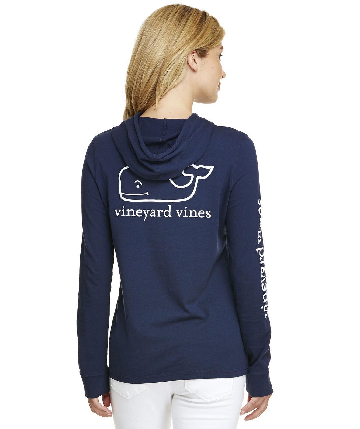 Shop Long-Sleeve Whale Hoodie Tee at vineyard vines