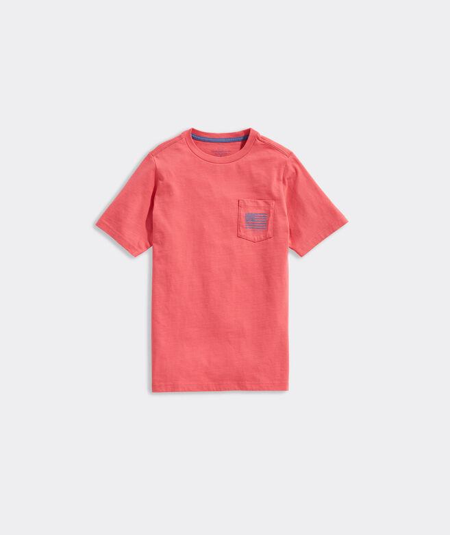 Boys' Waves Flag Short-Sleeve Pocket Tee