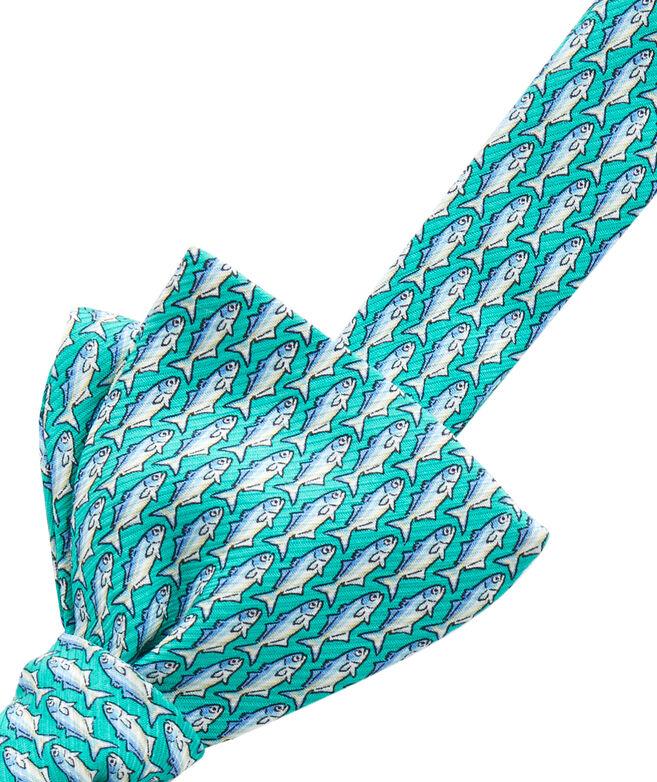 Blue Fish Bow Tie