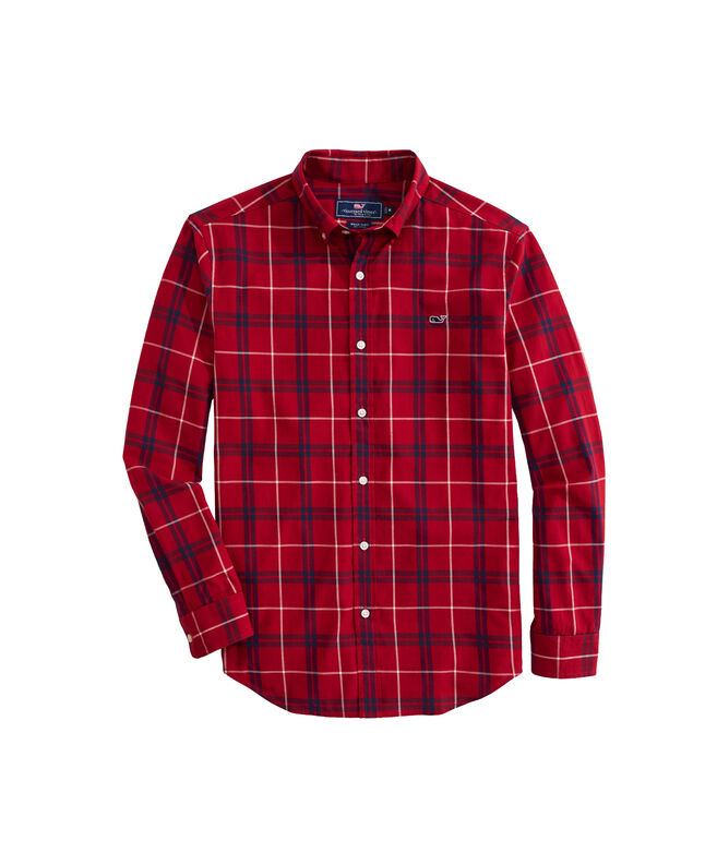 OUTLET Classic Fit Newfane Plaid Twill Whale Shirt