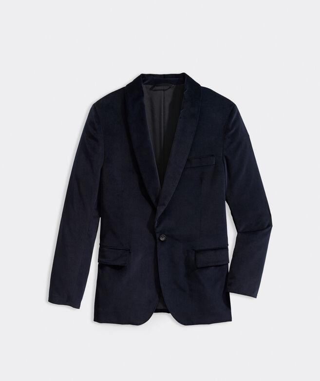 Shawl Collar Velvet Blazer