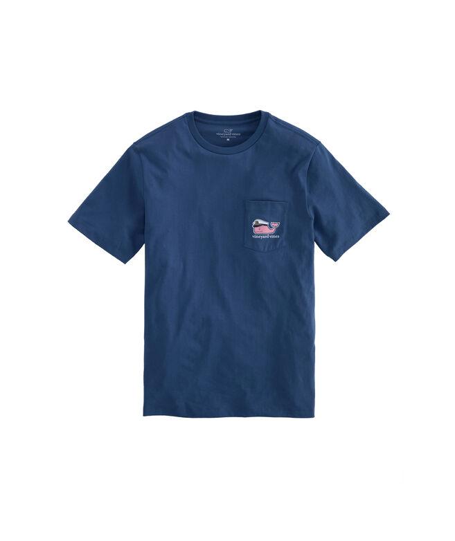 Lobster Bake Whale Pocket T-Shirt