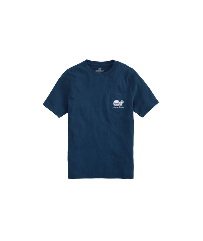 Boys Lax Bro Whale Pocket T-Shirt