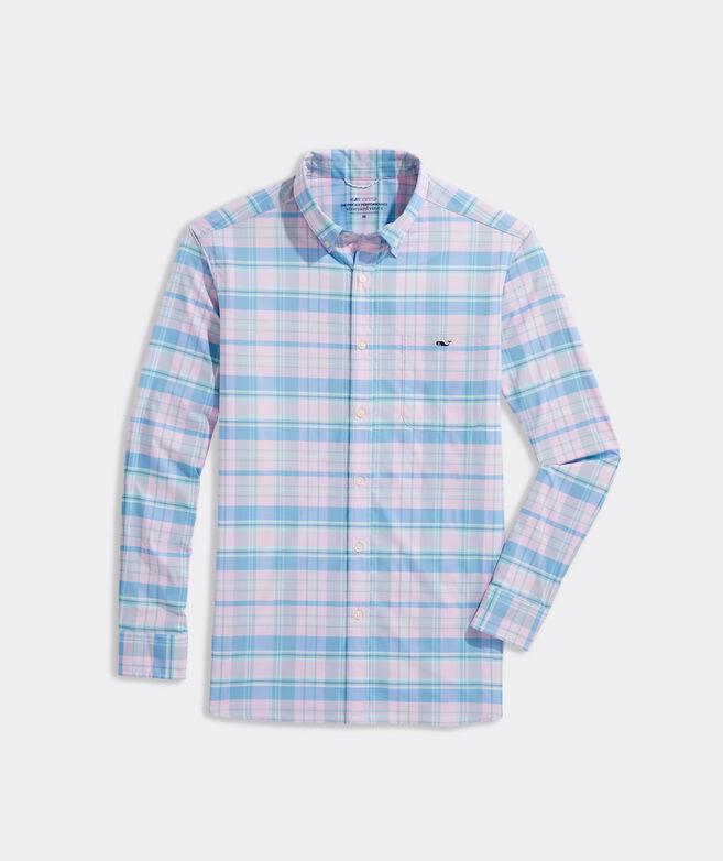 On-The-Go Nylon Plaid Shirt