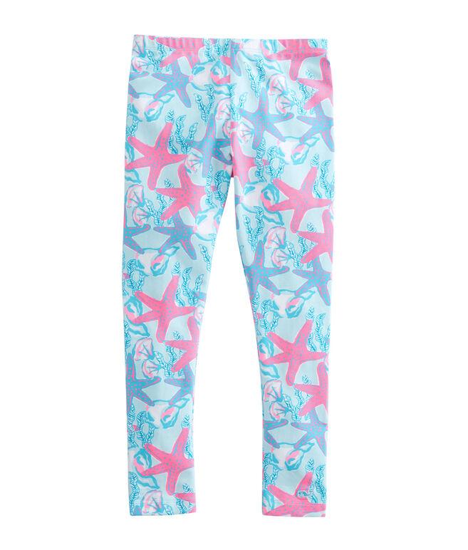 Girls Starfish & Conch Leggings