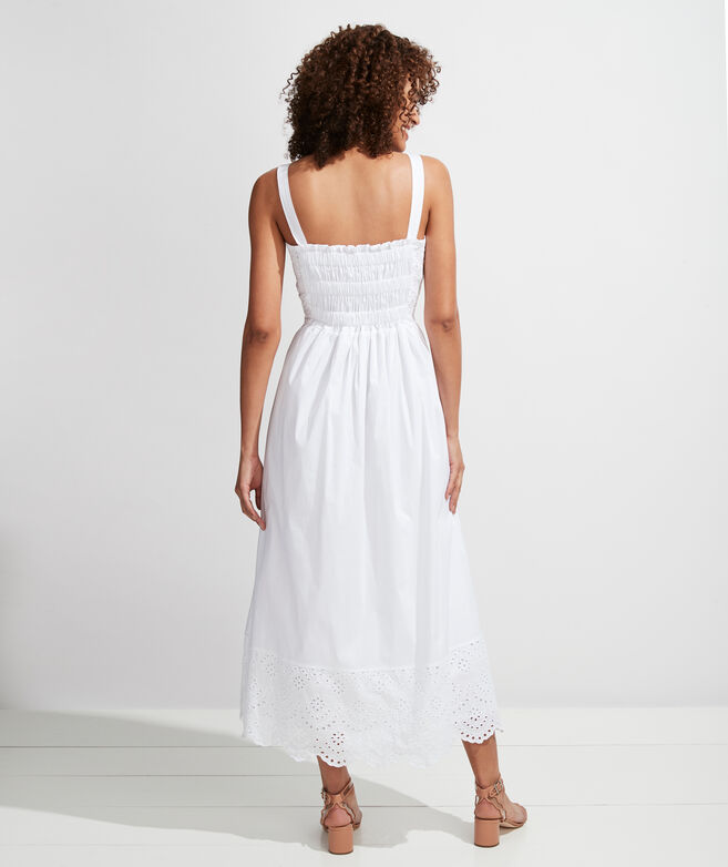 Palm Beach Lately Smocked Eyelet Maxi Dress