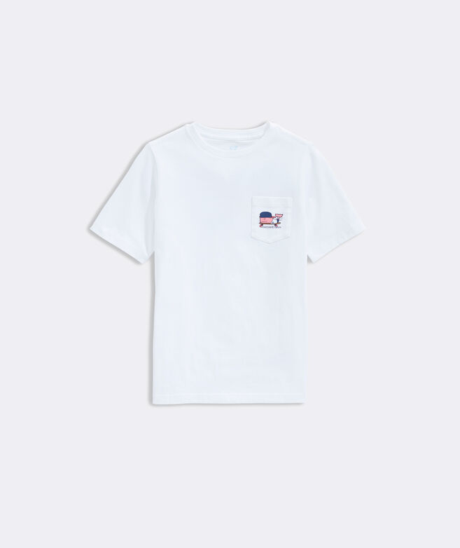 Boys' Skater Whale Short-Sleeve Pocket Tee