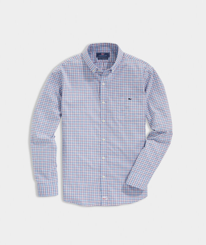 Slim Fit Sandbar On-The-Go Performance Tucker Button-Down Shirt