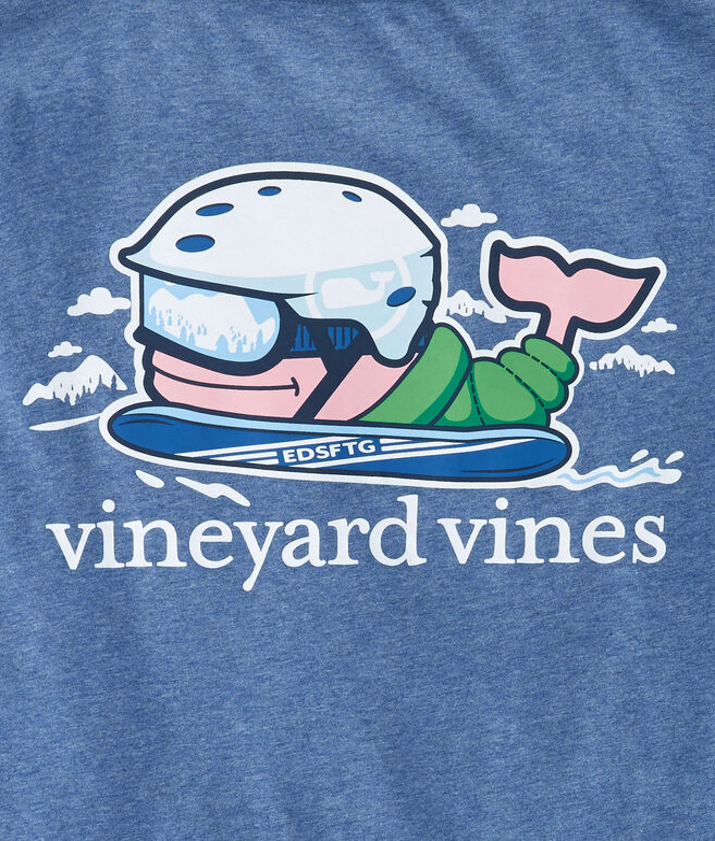 Long-Sleeve Heathered Send It Whale Pocket T-Shirt