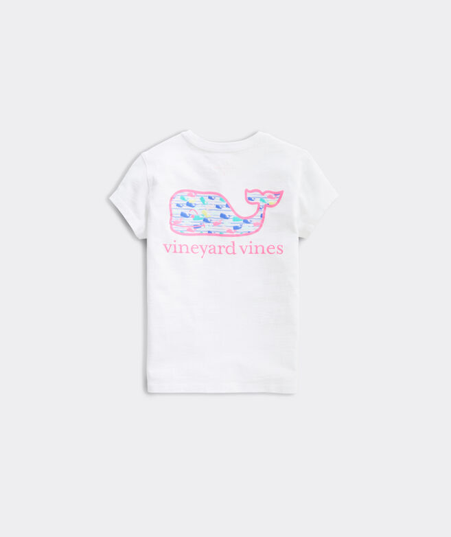 Girls' Watercolor Whale Fill Short-Sleeve Pocket Tee