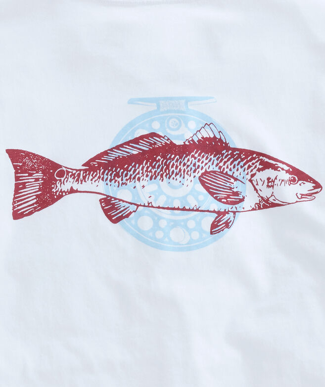 Red Fish Long-Sleeve Pocket Tee