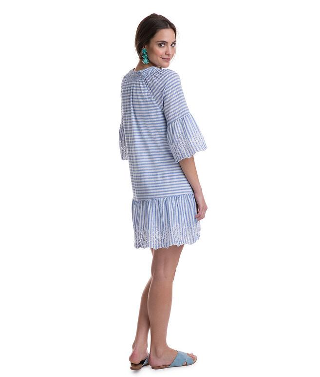 Tiamo Stripe Eyelet Dress