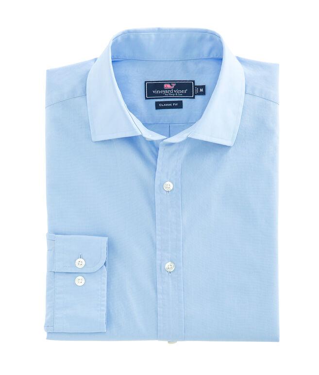 Solid Blue Classic Fit Burgee Shirt