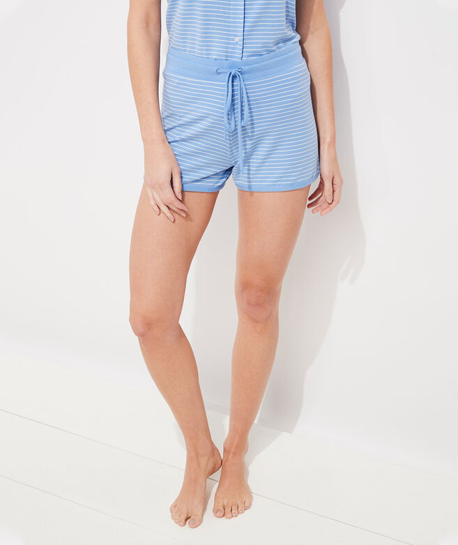 Super Soft Striped Knit Shorts Set
