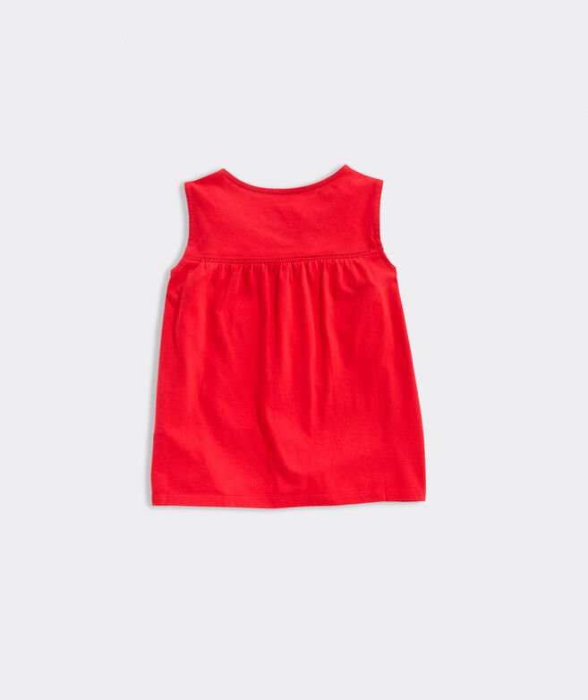 Girls' Sleeveless Ladder Lace Top