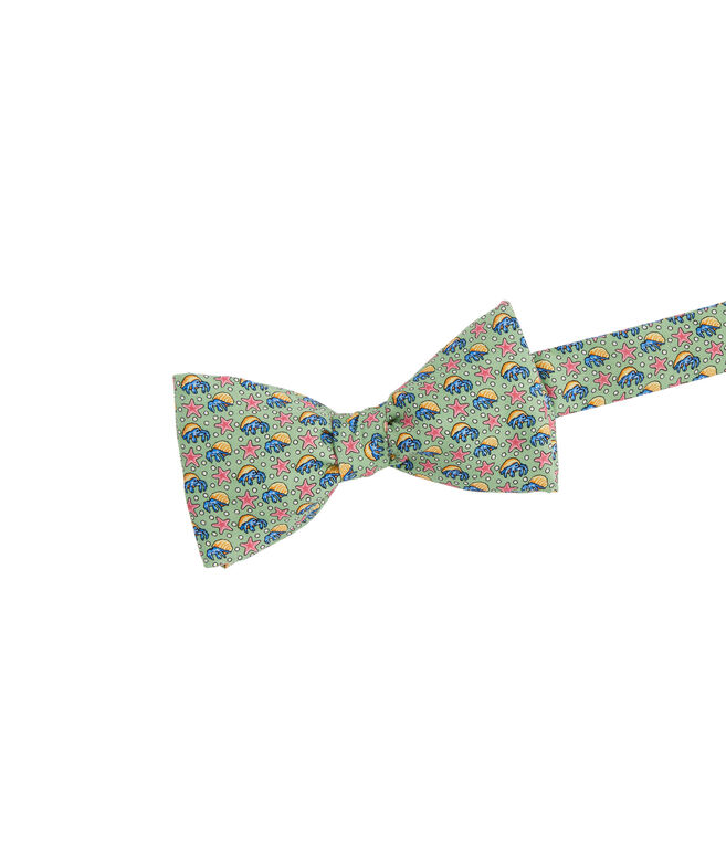 Hermit Crab & Starfish Printed Bow Tie