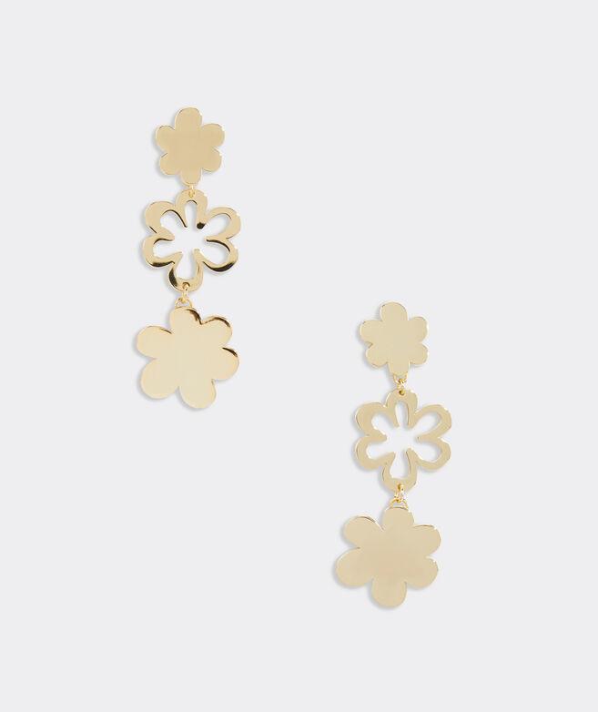 Daisy Chain Gold Earrings