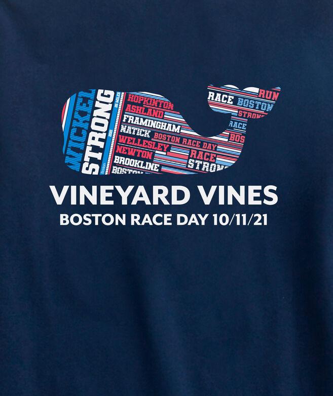 Kids' Wicked Strong Boston Marathon Whale Long-Sleeve Pocket Tee