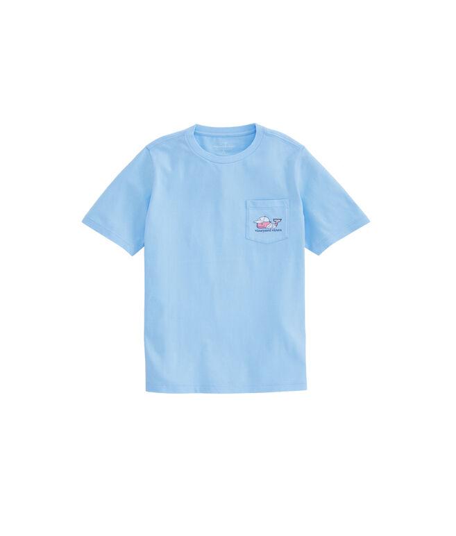 Sizes 5 /& 7 VINEYARD VINES Boys Tarpon Sketch Pocket Tee NWT