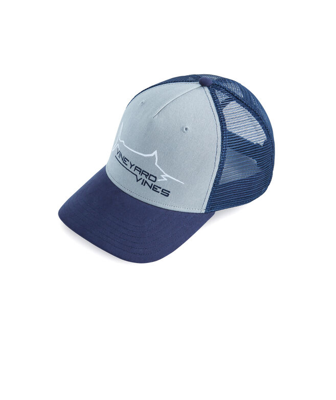 High Profile Marlin Patch Trucker Hat