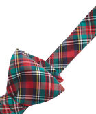 Holiday Plaid Shirting Bow Tie