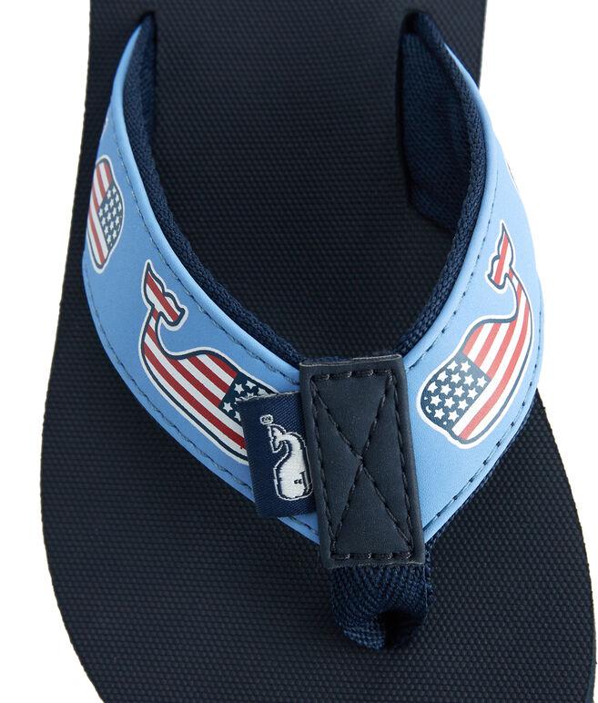 Boys Flag Whale Classic Flip Flops