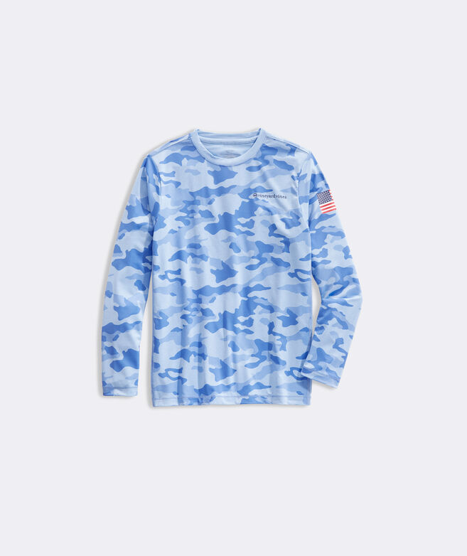 Boys' Camo Long-Sleeve Performance Tee