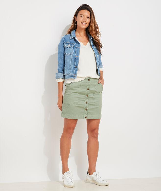 Garment-Dyed Utility Skirt