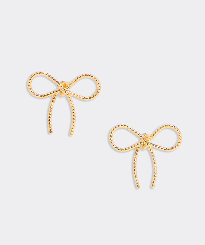 Wire Bow Stud Earrings