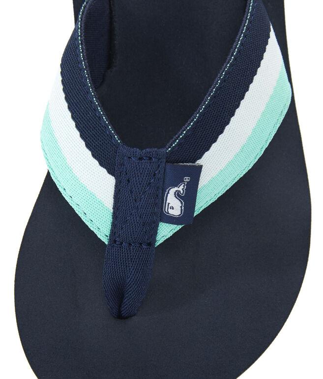 Boys Stripe Classic Flip Flops