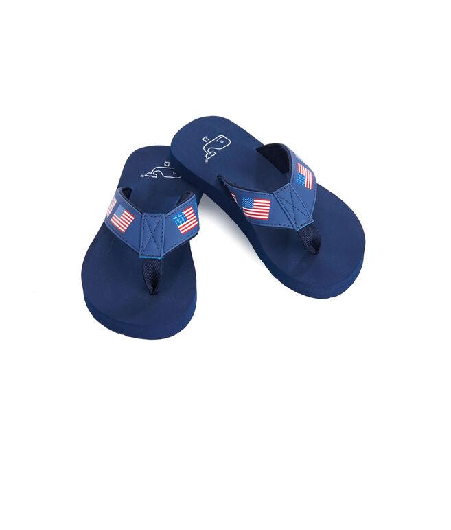 Boys Flag Flip Flops